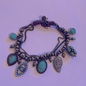 Lucky Brand 3 strand charm bracelet